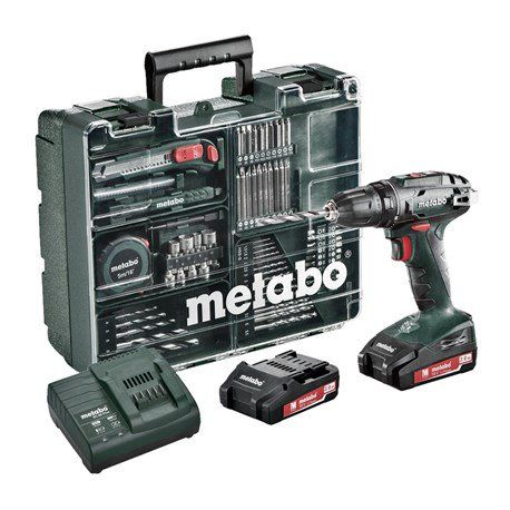 Wkrętarka Metabo BS 18 Set 18 V 2x2,0 Ah 48 Nm + set 74 akcesoria